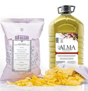 Chips San Nicasio cuites avec l'Alma Oliva Gastronomie